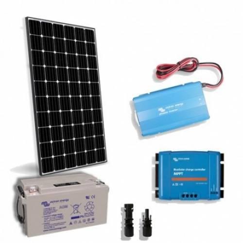 Solar Kit: Solar Panel + Inverter + Charger_Controller + Battery