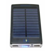 Solar Power Bank 10000 mAh Black