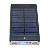 Solar Power Bank 10000 mAh Black