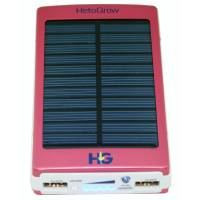 Solar Power Bank 10000 mAh Red