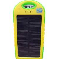 Solar Power Bank 4000 mAh Green and Yellow