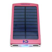 Solar Power Bank 6000 mAh Red