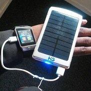 Solar power bank 6000mah Silver + smartwatch