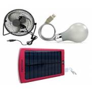 Solar power bank USB lighting