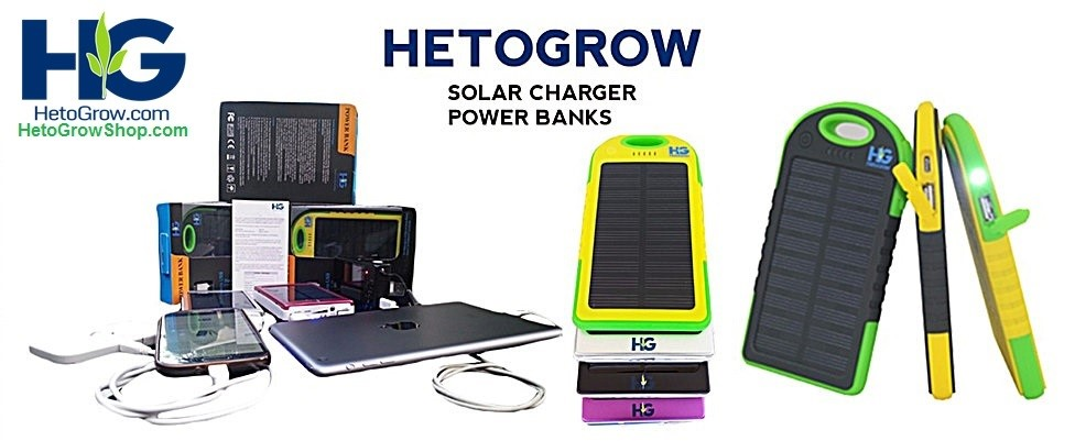 HetoGrow solar power bank product selection